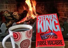 Stephen king by the fireplace!