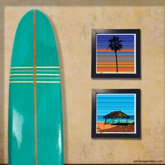 "Gallery: Pop series ""Beach style"" (2015) by Jon Savage From Top to bottom, ""Lone Palm"" & ""Windansea""  12 x 12 inch, Digital art - Giclee print on enhanced matte paper.  14 X 14 inch, frame - Stain black and glass. ‪#art #artist #popart #popartist #digitalart #contemporaryart #localart #localartist #sandiegoart #sandiegoartist #beachstyle #surf #surfer #beach #windansea #LaJolla #colorful #artonwall #SanDiego #JonSavageGallery"