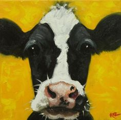 Cow painting, cute!