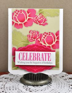 Rosie Posie stamp set from Papertrey created by the darling Miss Dawn McVey