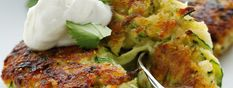 Zucchini Fritters with FAGE Total® Greek Yogurt - A perfectly light summer appetizer.