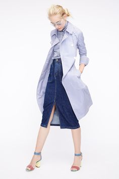 Crew Spring 2016 Ready-to-Wear Fashion Show J.Crew Spring 2016 Ready-to-Wear Fashion Show Denim Fashion, Look Fashion, Fashion Show, Fashion Design, Spring Look, Spring Summer Fashion, Spring 2016, Summer 2016, Spring Wear