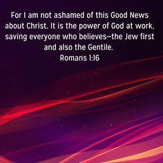 Roman 1, Scripture Pictures, Spiritual Warfare, Good News, Christ, Spirituality, God, Dios, Praise God