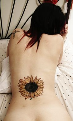 no outline sunflower tattoo - Google Search