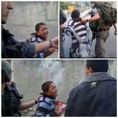 Israel arrests 700 Palestinian children every year. It's CHILD ABUSE plain  simple and it is  w r o n g !