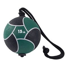 Power Systems Power Rope Medicine Ball (Green, 15-Pounds)