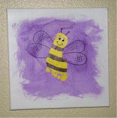 Canvas Bee on Canvas Art