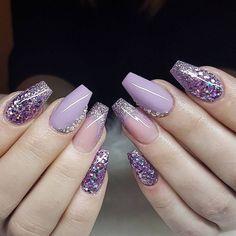 Amazing beautiful nail design ideas: winter nail art, acrylic nail design n Beautiful Nail Designs, Beautiful Nail Art, Gorgeous Nails, Pretty Nails, Winter Nail Art, Winter Nails, Summer Nails, Cute Acrylic Nails, Fun Nails