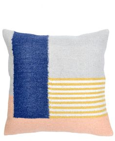 Kelim Cushion in White Lines