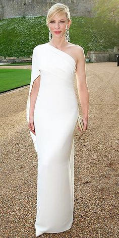 CATE BLANCHETT The Aussie actress looks downright regal in an ivory silk cady Ralph Lauren Collection gown and Ralph Lauren jewelry at the Royal Marsden Dinner at Windsor Castle in England.