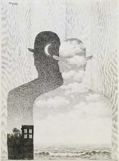 René Magritte. The Thought Which Sees. (1965). Pencil on paper. (40.0 x 29.7 cm).