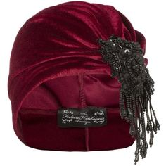 The Future Heirlooms Boutique Vivien Asymmetrical Velvet Turban ($57) ❤ liked on Polyvore featuring accessories, hats, red, velvet turban, velvet hat, turban hat, red hat and red velvet hat