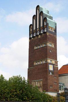 Darmstadt, Mathildenhöhe, Hochzeitsturm (Wedding Tower)