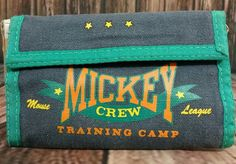 """Made from 55% Ramie and 45% Cotton  5.5"""" long and 3.5"""" high closed   8"""" long and 3.5"""" high opened   Vel cro closure zippered change pocket, partial bill holder and 3 ID or card slots   Green and a dark navy blue (color names may be different from description)    Please let me know if you have any questions before purchasing Thank you 