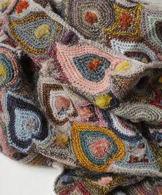 Close-up - Sophie Digard crochet - JULES MERINO WOOL SCARF / PALE GREY