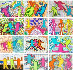 Graffiti color figures by Keith Haring This is a perfect lesson to get you through the end-of-the-year or even a mid-year slump. graders love the graffiti nature of Keith Haring. Third Grade Art, Sixth Grade, Keith Haring Art, Middle School Art Projects, Deep Space Sparkle, Atelier D Art, Ecole Art, Art Lessons Elementary, Art Lesson Plans