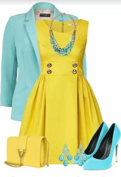 Yellow! Love this color combo!