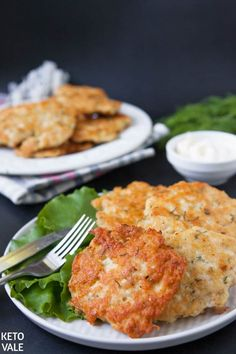 Low Carb Cheesy Chicken Fritters for Keto Diet