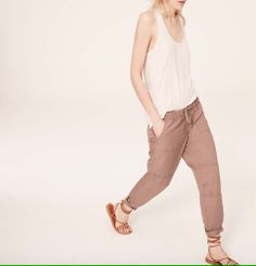 Lou & Grey Washed Poplin Pants | Loft