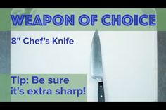 How to use a chef's knife - 9GAG