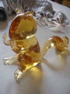Vintage Pilgrim Glass Golden Squirrel by AtticAntiquesVintage, $28.00