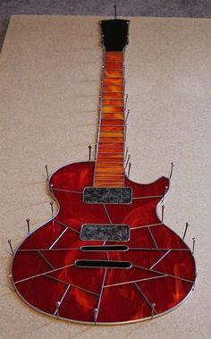 Image result for Stained Glass Guitar Pattern