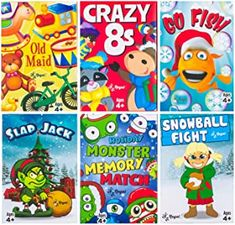 Amazon.com : christmas playing cards Fun Card Games, Card Games For Kids, Family Fun Games, Kids Cards, Educational Christmas Gifts, Classic Card Games, Little Company, Snowball Fight, Going Fishing