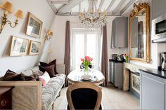 Small Paris apartment redo by Huff Harrington.