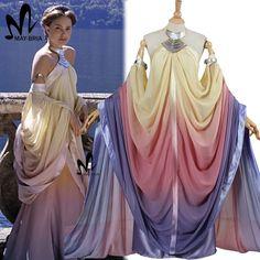 2017 star wars padme amidala traje la venganza de los sith lago dress star wars padmé amidala traje cosplay dress custom hecho