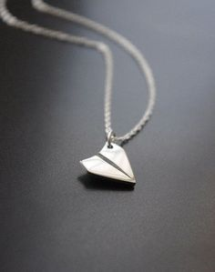 Paper Airplane Necklace - Simple Sterling Silver Necklace- Silver Everyday Necklace- Layered Necklace- Inspirational Jewelry- Let& Fly Away Cute Jewelry, Jewelry Accessories, Jewelry Design, Women Jewelry, Jewelry Trends, Jewelry Necklaces, Pearl Necklaces, Diamond Necklaces, Diamond Jewelry