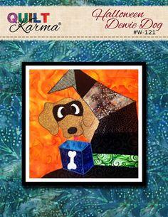 Quilt Pattern - Halloween Dewie Dog Applique - Quilt Karma