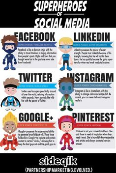 The Superheroes of Social Media Infographic #Infographics