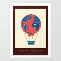 Art Print featuring Found in Translation - Fernweh by Anjana Iyer