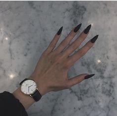 no) **: · · - # Nr # no - Nail Art - 50 Stunning Acrylic Nail Ideas to Express Your Personality Black Stiletto Nails, Black Acrylic Nails, Best Acrylic Nails, Aycrlic Nails, Matte Nails, Hair And Nails, Patrick Nagel, Gothic Nails, Nagel Hacks