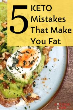 5 Keto Mistakes That Make You Fat Fat Sources, Asparagus And Mushrooms, Ketone Bodies, Most Effective Diet, Fat For Fuel, No Dairy Recipes, No Carb Diets, Healthy Fats, Ketogenic Diet