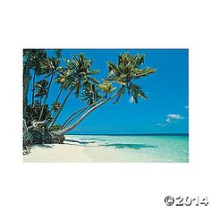 Tropical Beach Backdrop Banner $16, 9'x6' when finished! (comes in 3 pieces)
