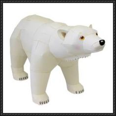 Canon Papercraft: Animals Paper Model - Polar Bear free papercraft download