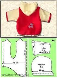 Resultado de imagem para roupas para pets e moldes