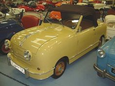 """1953 - Rovin D-4 -The little Rovin car earned itself a significant place in the sun, in the history of the French car. Uncompromisingly well-built and delightfully styled, around 400 – 500 cars emerged each year from the old Delaunay-Belleville factories in Saint Denis, upstream against the tide of """"real"""" cars."""