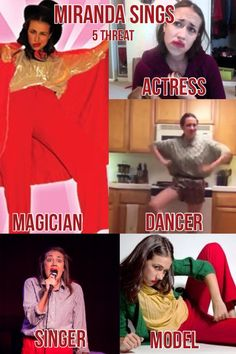 I Lisi Burciaga (lol XD)Made This bootiful collage of Miranda sings: 5 threat Acting, singing, dancing, modeling and most important.... Magic
