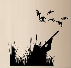 DUCK HUNTING DUCKS OUTDOOR VINYL WALL DECAL STICKER HOME DECOR made with orcal vinyl 651 http://www.amazon.com/dp/B00IA9Q84A/ref=cm_sw_r_pi_dp_Ea0Ptb1THJMF6Q5D