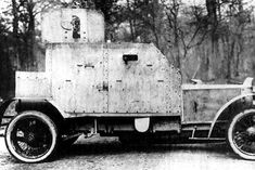 Foreign Armored Units in Russia during WWI:  Pegeaut armored car.