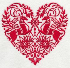 Scandinavian Christmas Heart