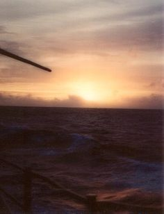 Sunset on the Persian Gulf: Taken during the Western Pacific cruise in 1995 aboard the USS Fife (DD-991).