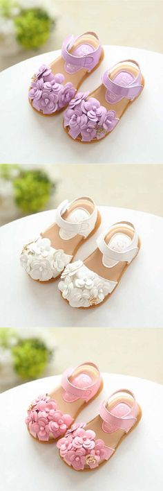 NWT GYMBOREE Butterfly Catcher Coral Flower Gummy Sandals Shoes SZ 6 7