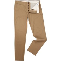 Jack & Jones Casual Slim-fit Chino-trousers ($38) ❤ liked on Polyvore featuring men's fashion, men's clothing, men's pants, men's casual pants, men trousers, men's 5 pocket pants, mens cotton pants, mens chinos pants, mens slim fit chino pants and mens flat front dress pants