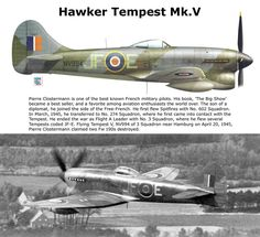 Hawker Tempest Mk.V Ww2 Aircraft, Fighter Aircraft, Military Aircraft, Fighter Jets, Hawker Tempest, Hawker Typhoon, The Spitfires, Hawker Hurricane, War Thunder