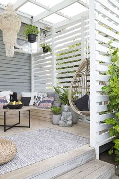 These free pergola plans will help you build that much needed structure in your backyard to give you shade, cover your hot tub, or simply define an outdoor space into something special. Building a pergola can be a simple to… Continue Reading → Design Exterior, Interior Exterior, Wall Exterior, Weatherboard Exterior, Outdoor Rooms, Outdoor Decor, Outdoor Privacy, Deck Privacy Screens, Outdoor Living Spaces