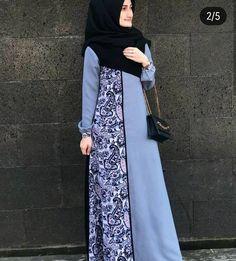 Batik Source by dress Modern Hijab Fashion, Muslim Women Fashion, Batik Fashion, Abaya Fashion, Fashion Dresses, Batik Muslim, Hijabi Gowns, Hijab Style Dress, Mode Abaya