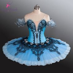 Ballet Costume in Sky Blue and Black
